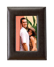 "Lawrence Frames Dark Brown Leather Picture Frame - 5"" x 7"""
