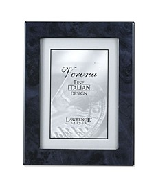 """Navy Blue Faux Burl Picture Frame - Polished Lustrous Finish with Sides Finished In Black - 5"""" x 7"""""""