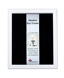 "790280 White Wood Shadow Box Picture Frame - 8"" x 10"""