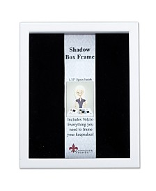 "Lawrence Frames 790280 White Wood Shadow Box Picture Frame - 8"" x 10"""