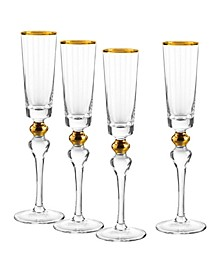 Dominion Gold Flutes, Set Of 4