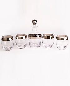 Qualia Glass Tiara 5 Piece Whiskey Set
