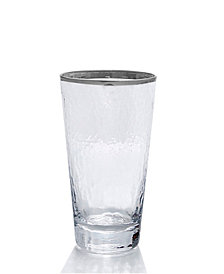Qualia Glass Mirage Platinum Highball Glasses, Set Of 4