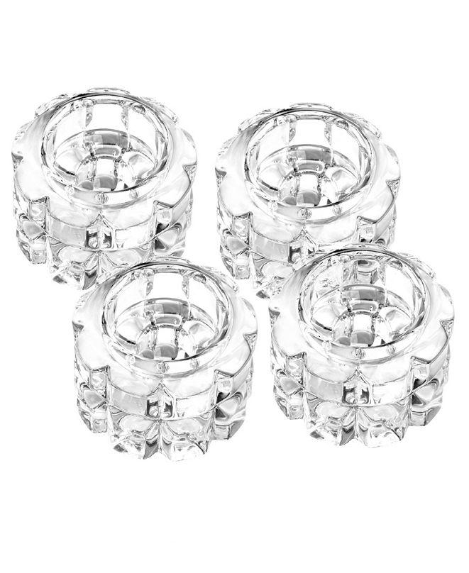 "Qualia Glass Skylight 2.5"" Round Votive, Set Of 4"