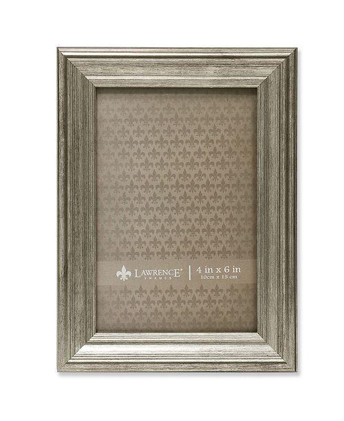 "Lawrence Frames Sutter Burnished Silver Picture Frame - 4"" x 6"""