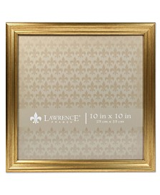 "Lawrence Frames Sutter Burnished Gold Picture Frame - 10"" x 10"""
