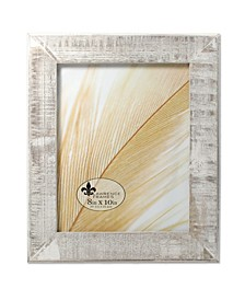"Distressed Gray Wood with White Wash Picture Frame - 8"" x 10"""