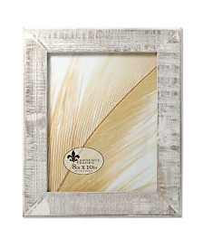 """Lawrence Frames Distressed Gray Wood with White Wash Picture Frame - 8"""" x 10"""""""