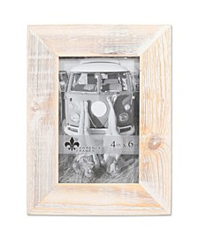"""Sarasota Whitewash and Weathered Natural Wood Picture Frame - 4"""" x 6"""""""