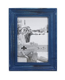 """Durham Weathered Navy Blue Wood Picture Frame - 5"""" x 7"""""""