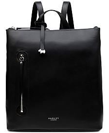 Radley London Zip-Top Leather Backpack
