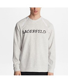 Karl Lagerfeld Paris Logo Sweatshirt With Zippers