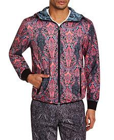 Tallia Men's Slim-Fit Stretch Ornate Paisley Hoodie Jacket