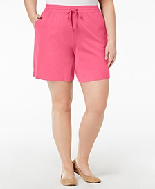Plus Size Drawstring Shorts, Created for Macy's