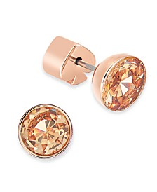 Stainless Steel Colored Crystal Stud Earrings