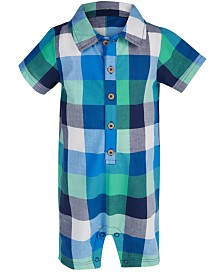 First Impressions Baby Boy Plaid Romper