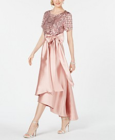 High-Low Sequin-Embellished Gown