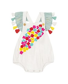 Masala Baby Girls Flutter One Piece Pretty Floral