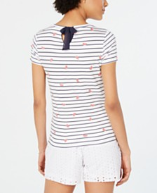 Maison Jules Tied Keyhole-Back Top, Created for Macy's