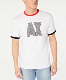 A|X Armani Exchange Men's Striped-Logo T-Shirt Created For Macy's