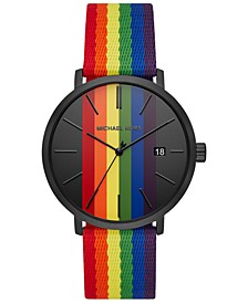 Men's Blake Rainbow Nylon Strap Watch 42mm
