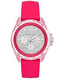 Women's Wren Neon Pink Silicone Strap Watch 42mm