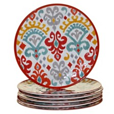 Certified International Bali Melamine 6-Pc. Dinner Plate Set