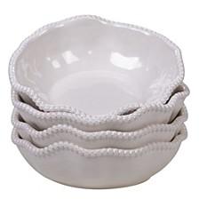 Perlette Cream Melamine 4-Pc. All Purpose Bowl Set