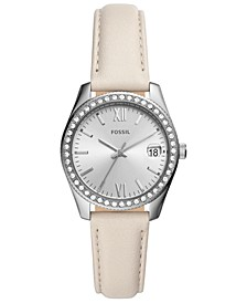 Women's Scarlette Mini Winter White Leather Strap Watch 32mm