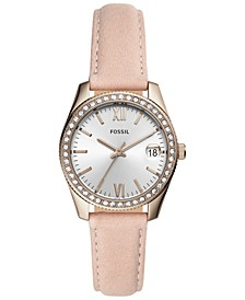 Women's Scarlette Blush Leather Strap Watch 32mm