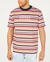 972235cd4221 GUESS Men's Striped Logo T-Shirt