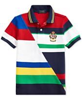 957ad78b7 Polo Ralph Lauren Toddler Boys Striped Cotton Mesh Polo Shirt