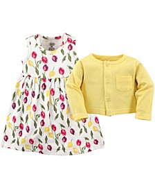 Dress and Cardigan Set, 2T-5T