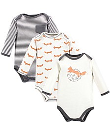 Organic Cotton Bodysuit, 3 Pack, Premie-24 Months