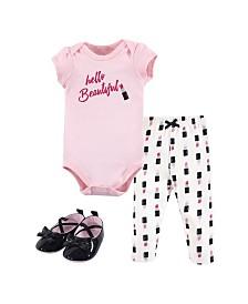 Little Treasure Bodysuit, Pant and Shoe Set, 0-18 months