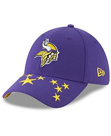 New Era Little Boys Minnesota Vikings Draft 39THIRTY Stretch Fitted Cap
