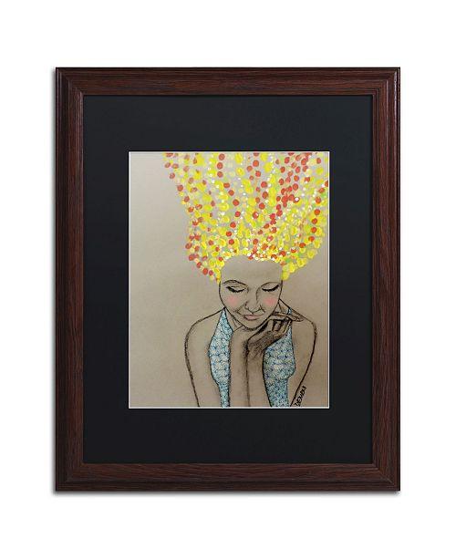 """Trademark Global Sylvie Demers 'Miss Sunshine' Matted Framed Art - 20"""" x 16"""" x 0.5"""""""