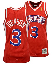 Big Boys Allen Iverson Philadelphia 76ers Hardwood Classic Swingman Jersey