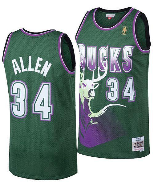 buy online 7a81c 5aa57 Mitchell & Ness Big Boys Ray Allen Milwaukee Bucks Hardwood ...