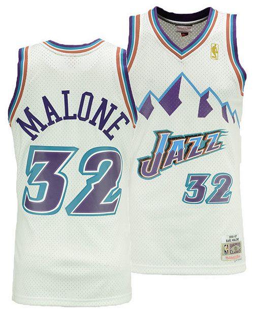 premium selection d1811 7e0d0 Big Boys Karl Malone Utah Jazz Hardwood Classic Swingman Jersey