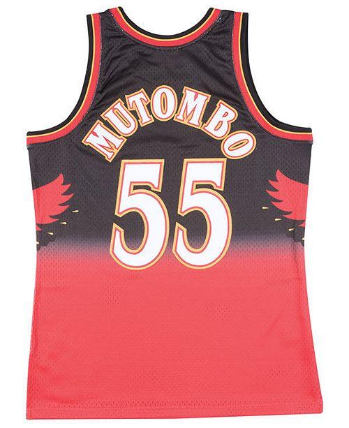 quality design 0073f 08f26 Big Boys Dikembe Mutombo Atlanta Hawks Hardwood Classic Swingman Jersey