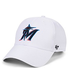 '47 Brand Miami Marlins White MVP Cap