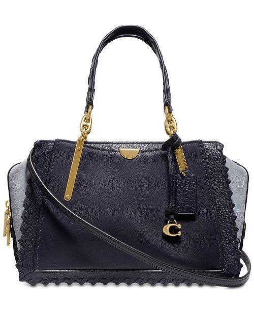 COACH Whipstitch Colorblock Leather Dreamer Satchel