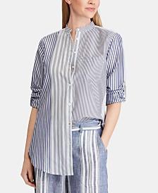 Lauren Ralph Lauren Contrast Striped Shirt
