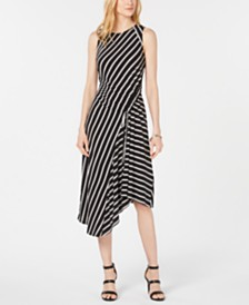 Robbie Bee Petite Striped Midi Dress