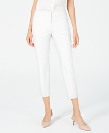 Alfani Cropped Straight-Leg Pants, Created for Macy's