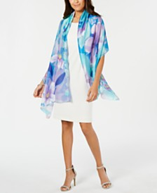 I.N.C. Watercolor Bloom Wrap, Created for Macy's