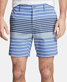 "Men's Twill Stripe 6"" Shorts, Created for Macy's"