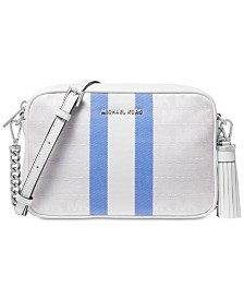 MICHAEL Michael Kors Signature Striped Medium Camera Bag