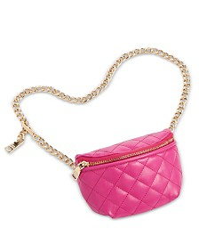 Steve Madden Quilted Faux Leather Chain Belt Bag